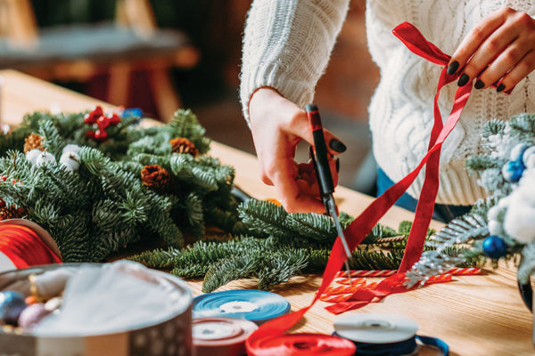 Ribbon…A Great Tool for Holiday Decorating