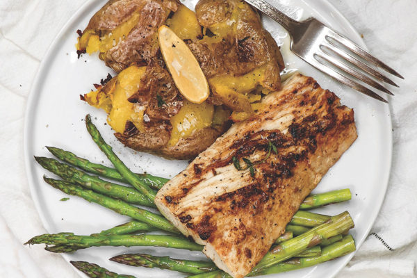 A Bright Moment: Blackened Lemon Mahi Mahi with Crispy Smashed Potatoes