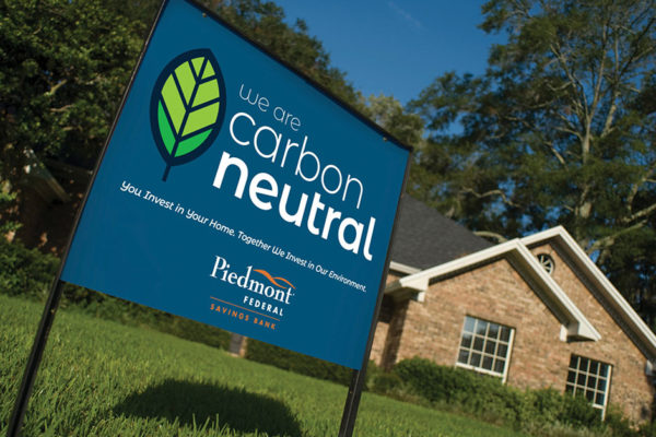 PIEDMONT FEDERAL SAVINGS BANK HELPING CUSTOMERS  REDUCE THEIR CARBON FOOTPRINT, IMPROVING THE ENVIRONMENT